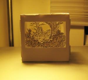 diorama en boîte