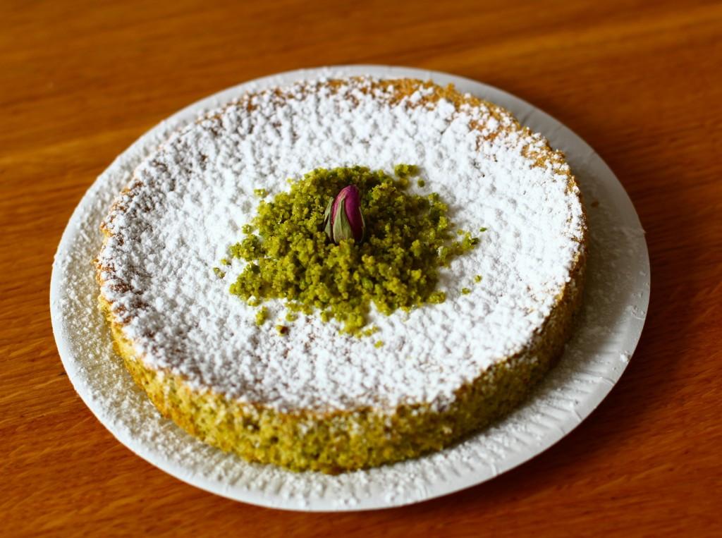gâteau pistache rose