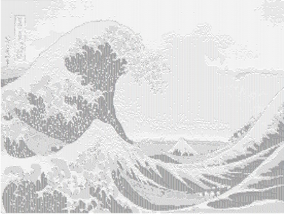 hokusai-ascii