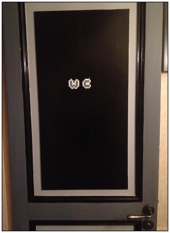 La porte des wc